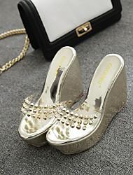 Недорогие -женские мокасины&проскользнуть дополнения патентного комфорта кожа случайного низкий каблук