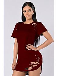 Amazon europe women&Le t-shirt en coton de couleur unie qui brûle des fleurs éclate les modèles exécutent le montant de l'argent