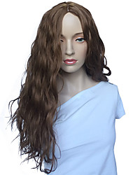 Brown Wig Capless Synthetic Fiber Women Wig Costume Party Hairstyle
