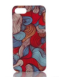 Недорогие -Кейс для Назначение Apple iPhone 7 Plus iPhone 7 Ультратонкий С узором Кейс на заднюю панель Геометрический рисунок Твердый ПК для iPhone