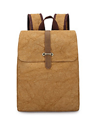 Unisex Bags All Seasons Canvas Backpack for Shopping Casual Sports Formal Camping & Hiking Climbing Outdoor Blue Brown