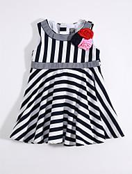cheap -Girls' Striped Sleeveless Dress