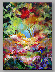 IARTS®Hand Painted Oil Painting Landscape Colorful Woods B with Stretched Frame Ready to Hang
