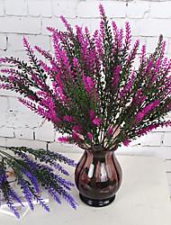 1 Branch Plastic Lavender Tabletop Flower Artificial Flowers 37.5*8.5