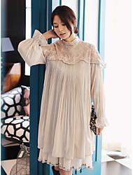 Nouveaux articles pli de couture robe de dentelle sauvage coréenne