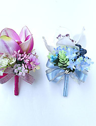 """cheap -Wedding Flowers Boutonnieres Wedding Party / Evening Satin 9.84""""(Approx.25cm)"""