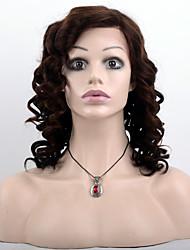 Недорогие -человеческие волосы Remy Полностью ленточные Парик Бразильские волосы Свободные волны Омбре Парик 130% Плотность волос / Волосы с окрашиванием омбре / Природные волосы / 100% ручная работа