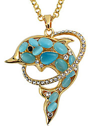 Women's Pendant Necklaces Crystal Chrome Animal Design Fashion Adorable Euramerican White Yellow Rainbow Red Light Blue Jewelry For