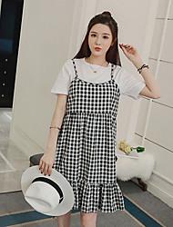 знак 2017 лета новые женщины длинный участок Буру Yi беременных женщин из двух частей плед платье