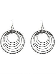 Women's Drop Earrings Hoop Earrings Fashion Euramerican Alloy Circle Jewelry For Wedding Party Daily Casual Sports