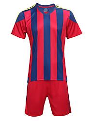 Per uomo Calcio Shorts + Set di vestiti/Completi Traspirante Asciugatura rapida Primavera Estate Autunno Inverno Righe TeryleneEsercizi