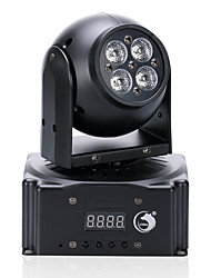 U'King® 20W 4 LEDs RGB 3 in 1 Mini Moving Head Wash Stage Lighting 9CH DMX Auto Sound Mode 1pcs
