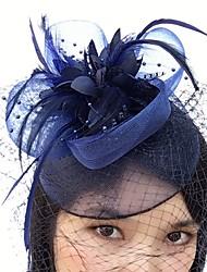 cheap -Feather Net Fascinators Birdcage Veils 1 Wedding Special Occasion Headpiece