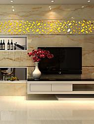economico -Moda 3D Tempo libero Adesivi murali Adesivi 3D da parete Adesivi  a parete specchio Adesivi decorativi da parete,Vetro Materiale