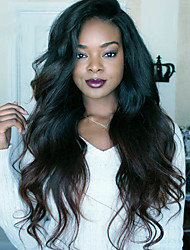 cheap -Virgin Human Hair Full Lace Wig Brazilian Hair Body Wave 150% Density With Baby Hair African American Wig Natural Hairline Short Long