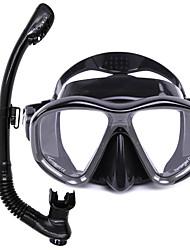 Kits para Snorkeling Mergulho e Snorkeling Vidro Borracha Silicone-WHALE