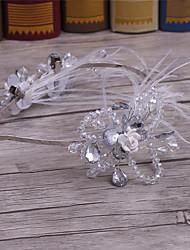 Pele de liga de cristal de penas-casamento ocasião especial escritório casual& Headbands exteriores de carreira 1 peça