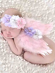 cheap -Baby Young Children In Europe And The Manual Roses Diamond Hair Band And Feathered Wings Angel Baby Photography Props
