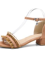 Women's Sandals Comfort Gladiator Light Soles Leatherette Spring Summer Outdoor Dress Comfort Gladiator Light Soles Buckle Stitching Lace