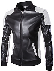 cheap -Motorcycle Clothes Jacket PU Leather All Seasons Windproof