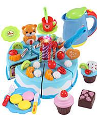 abordables -Sets Jouet Cuisine Nourriture Factice / Faux Aliments Jeu de Rôle Couteaux à Gâteau & Biscuit Gâteau PVC Garçon Enfant Cadeau