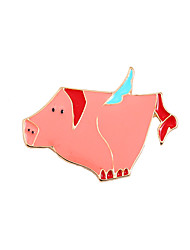 cheap -Women's Boys' Girls' Brooches Unique Design Animal Design Friendship Cute Style Enamel Alloy Animal Shape Pig Jewelry For Wedding Party
