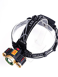 Headlamps Battery Case LED Lumens Mode Cree T6 Rechargeable for Camping/Hiking/Caving Everyday Use Cycling/Bike Hunting Climbing Outdoor