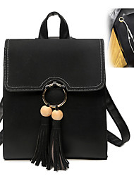 cheap -Women Bags PU Backpack Metallic Tassel for Wedding Event/Party Shopping Casual Sports Formal Outdoor Office & Career Professioanl Use