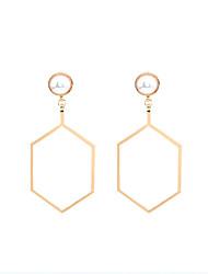 cheap -Dangle Earrings Imitation Pearl Obsidian Pearl Imitation Pearl AlloyDangling Style Pendant Geometric Imitation Pearl Fashion Personalized