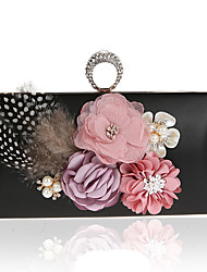 Women Bags Polyester Evening Bag Imitation Pearl Crystal/ Rhinestone Flower for Wedding Event/Party Casual Formal Office & Career Winter