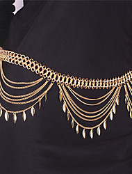 cheap -Tassel Body Chain Leaf Fashion Women's Gold Body Jewelry For Party / Special Occasion / Casual