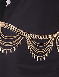 Недорогие -С кисточками Цепь Тела / Belly Chain В форме листа Мода Жен. Золотой Украшения для тела Назначение Для вечеринок / Особые случаи / Повседневные