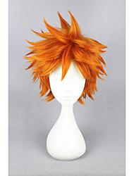 Недорогие -Парики из искусственных волос Прямой Ассиметричная стрижка Без шапочки-основы Жен. Блондинка Карнавальный парик Парик для Хэллоуина