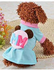 cheap -Dog Dress Dog Clothes Cute Casual/Daily Flower Pink Light Blue Costume For Pets