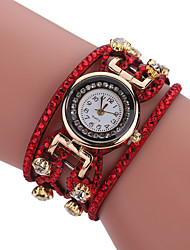 cheap -Women's Bracelet Watch Quartz Hot Sale Alloy Band Casual Black White Blue Red Orange Brown Pink Yellow Navy