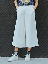 firmare pantaloni gamba larga bianco velluto a coste di moda intellettuale