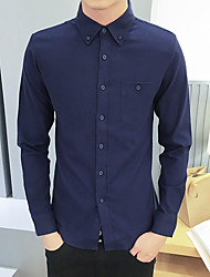 cheap -Men's Casual Shirt - Solid Colored