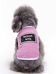 preiswerte -Katzen Hunde T-shirt Weste Hundekleidung Sommer Buchstabe & Nummer Niedlich Modisch Lässig/Alltäglich Grau Gelb Rosa