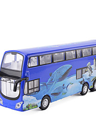 cheap -Toy Cars Truck Toys Simulation Music & Light Bus Metal Alloy Metal Pieces Kids Unisex Gift