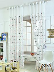 Un pannello Trattamento finestra Neoclassicismo Mediterraneo Originale Salotto Tessuto sintetico Materiale Sheer Curtains Shades