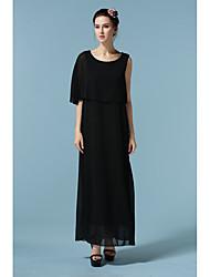 Новое шифоновое платье плеча шифоновое платье было тонким свободным плащом пункта specials