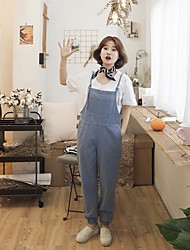 vicina primavera e l'estate nuove sciolti bretelle fascio pantaloni gamba tuta denim coreano collant studenti