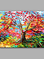 cheap -Hand-Painted Abstract Love Tree Modern One Panel Canvas Oil Painting For Home Decoration