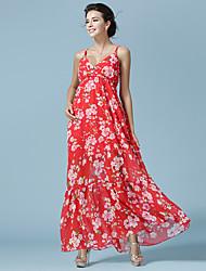 новый летний ремень платье был тонкий шифон платье пляж платье женщины пляжный отдых