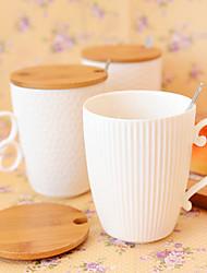 Minimalismus Bar Trinkbecher, 420 ml Ergonomisches Design Keramik Kaffee Milch Gläser und Tassen für den täglichen Gebrauch
