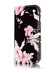 cheap -For Samsung Galaxy A3(2017) A5(2017) Case Cover Pink Flower Pattern Painted Card Holder PU Leather Material Mobile Phone Case A3(2016) A5(2016)