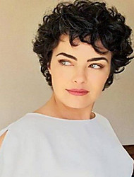 cheap -Synthetic Hair Wigs Curly Capless Natural Wigs Short Black
