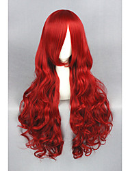 cheap -Long Wave Red The Little Mermaid 32inch Anime Cosplay wig CS-193A