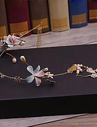laiton imitation perle tissu bandeaux en alliage bandeau style élégant
