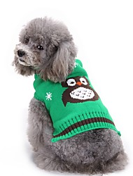 Gatti Cani Maglioni Abbigliamento per cani Inverno Fantasia animale Di tendenza Casual Halloween Arancione Rosso Verde Blu